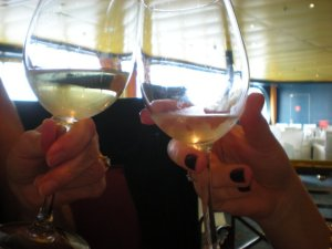 actual photo from said wine tasting. it is blurry for a reason. cheers, mom!