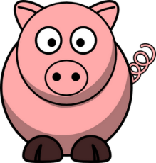 Pig Cartoon Clipart