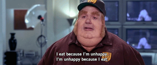 unhappy because i eat